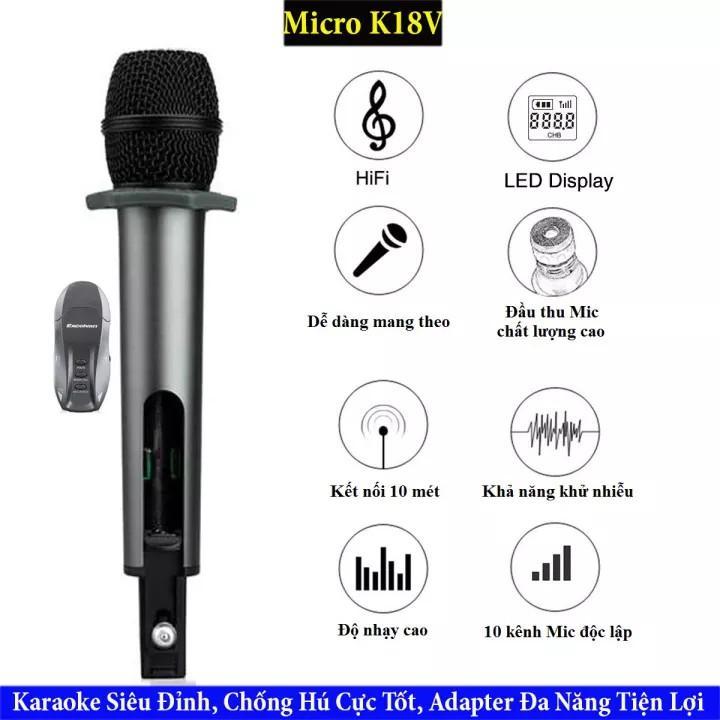 Micro Hát Karaoke Trên Ô TÔ  Kết Nối BLUETOOTH Hát Siêu Hay, Âm Thanh Sống Động