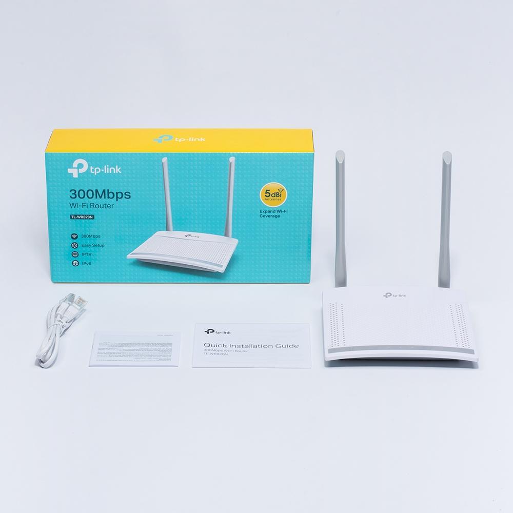 Bộ Phát Sóng Wifi 300Mbps 2 Ăng-Ten TPLink 820N- Hàng Chính Hãng