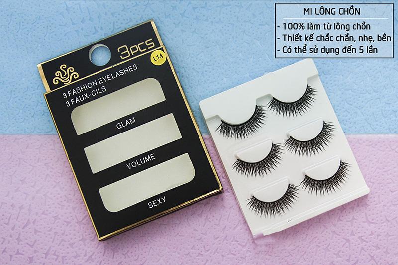 Lông mi chồn 3 Fashion Eyelashes 3 Faux (Dày mi L18)