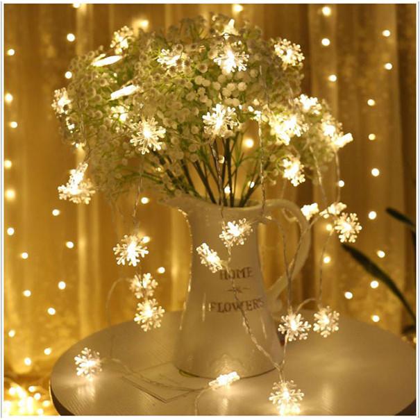 Đèn Led Trang Trí Bông Tuyết Dài 6M - 40 Bóng Trang Trí Noel Lễ Tết
