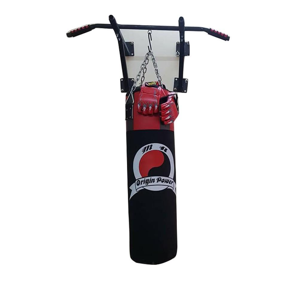 Bao cát boxing 1m + khung treo xà đơn + găng MMA