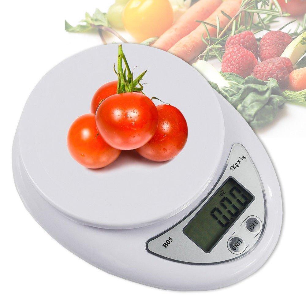 Cân Điện Tử Nhà Bếp Mini Electronic Kitchen Scale Cân Thực Phẩm 5Kg – 1G Kèm Pin