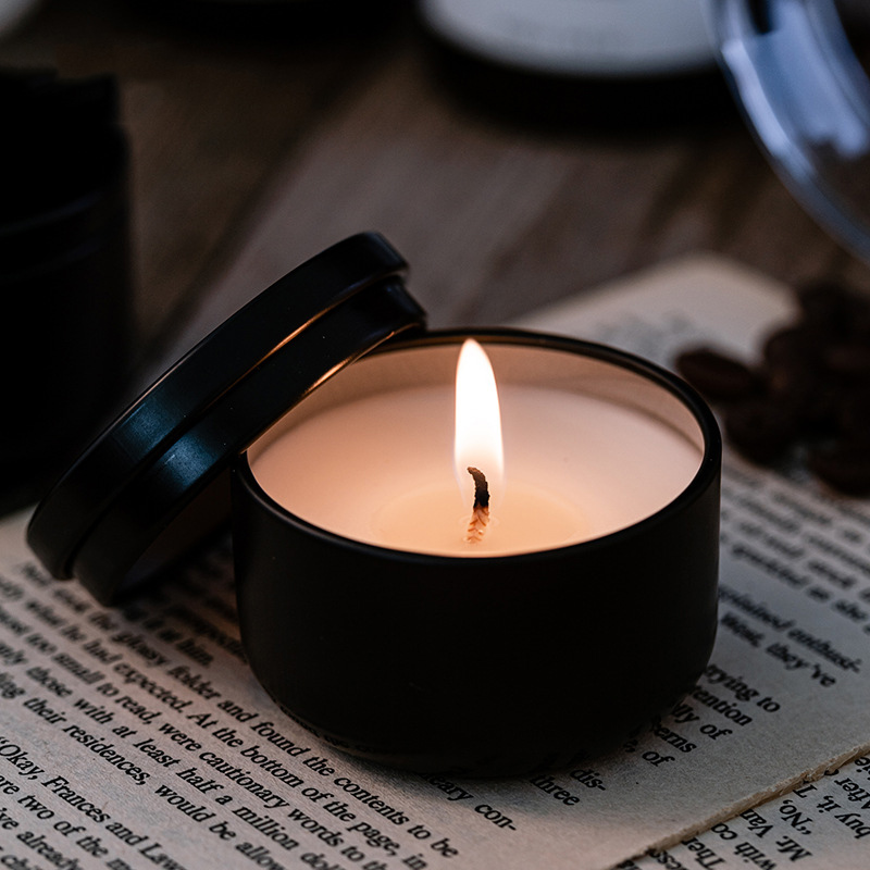 Hũ nến Thử hương Hộp thiếc đen 40g (sử dụng trong 8 giờ)