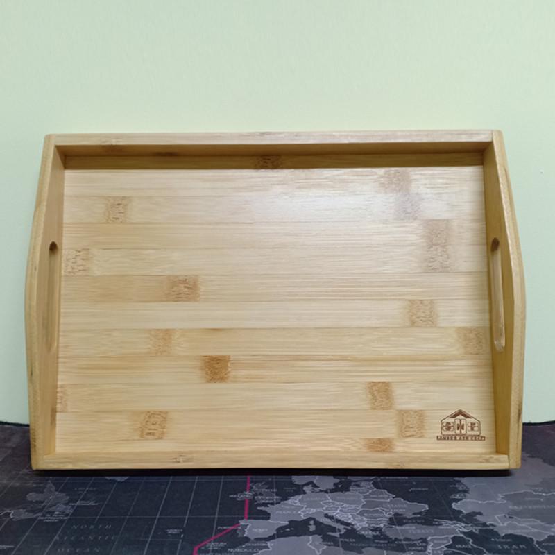 Khay gỗ tre ghép đựng trà đạo, đựng thức ăn hình chữ nhật - An toàn, cao cấp, chắc chắn - Hàng sản xuất chuẩn tre Việt Nam