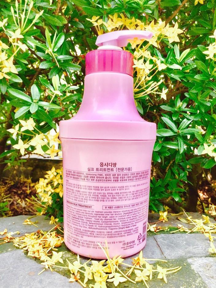 Hấp dầu dưỡng tóc siêu mềm mượt Obsidian Silk Treatment 1000ml tặng kèm móc khóa