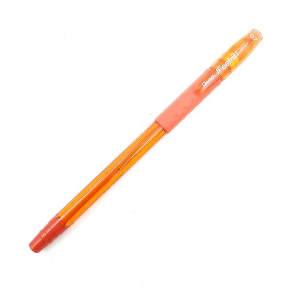 Bộ 2 Bút Bi Nắp Đậy Pentel 0.7 BX487F - Màu Cam