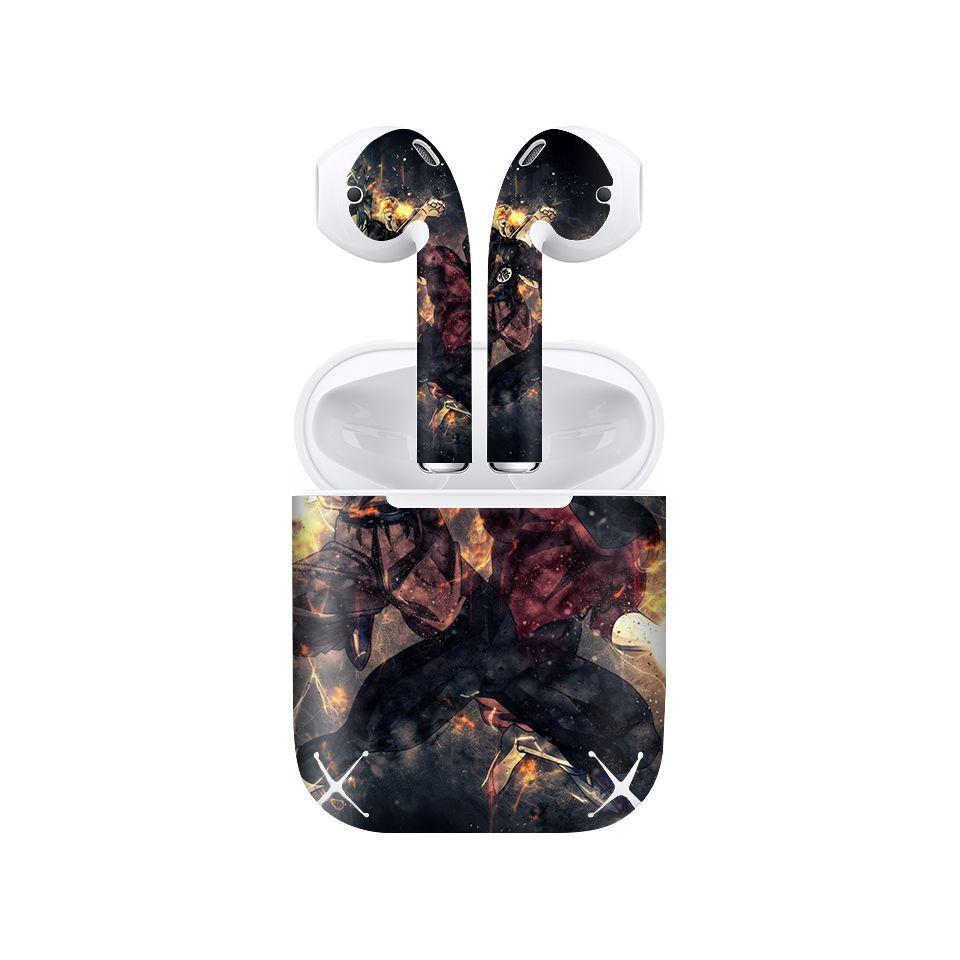 Miếng dán skin chống bẩn cho tai nghe AirPods in hình Dragon Ball - Goku Vs Jiren - 7vnr57 (bản không dây 1 và 2)