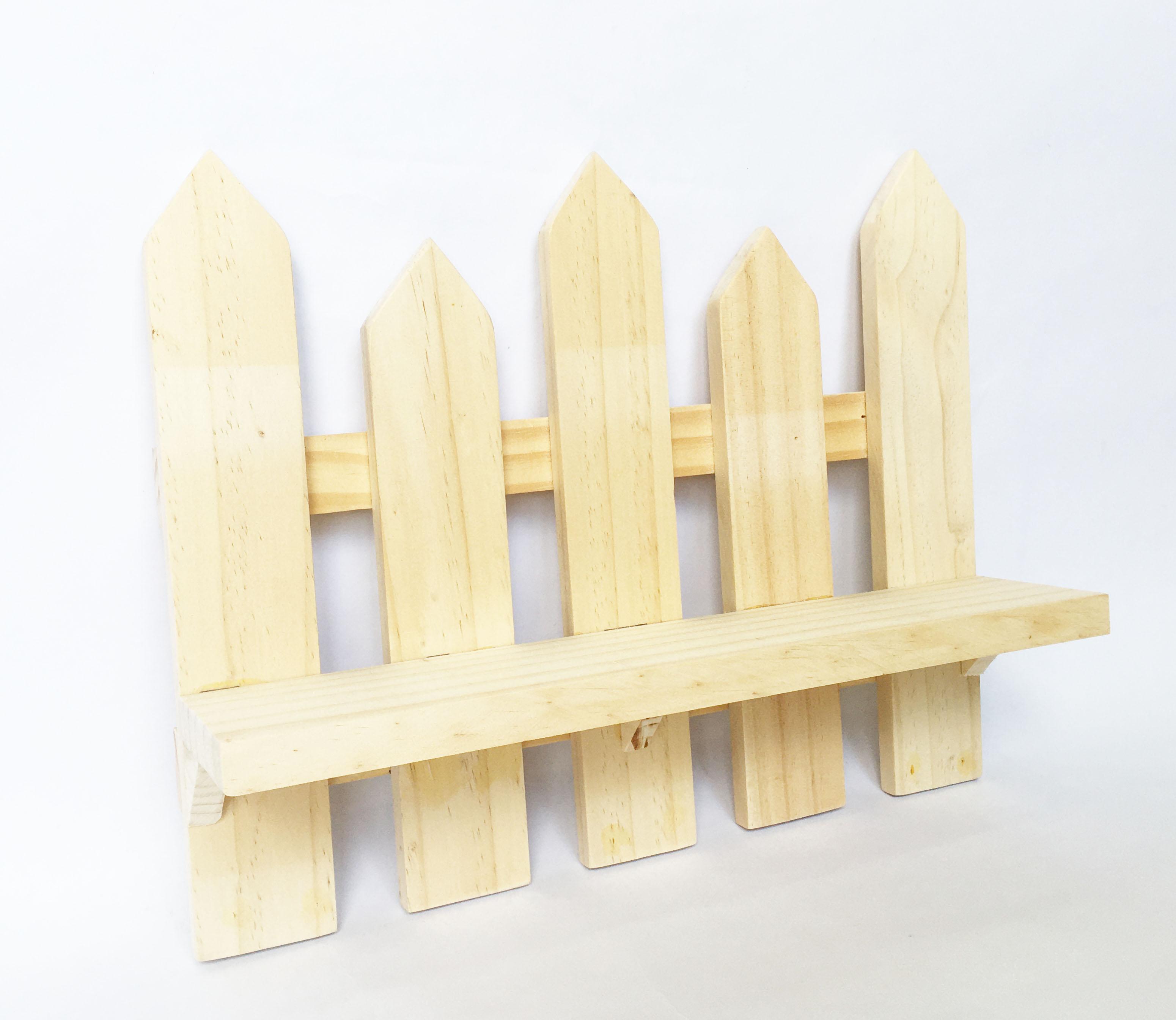Kệ đa năng Kệ gỗ treo tường trang trí hình hàng rào gỗ thông KT D32xC25cm