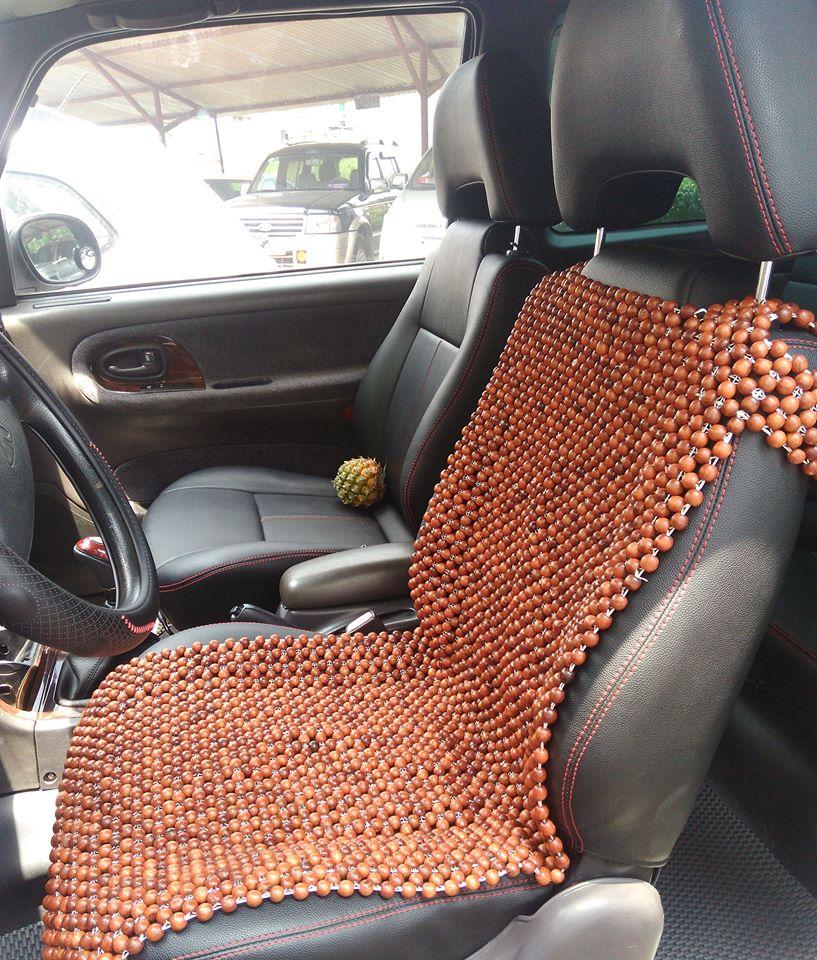 Đệm ghế hạt gỗ Hương Nâu cho xe hơi, ô tô rộng 45cm dài 105cm, hàng cao cấp, hạt gỗ tuyển chọn ( dành cho khách vip-nhà giàu)