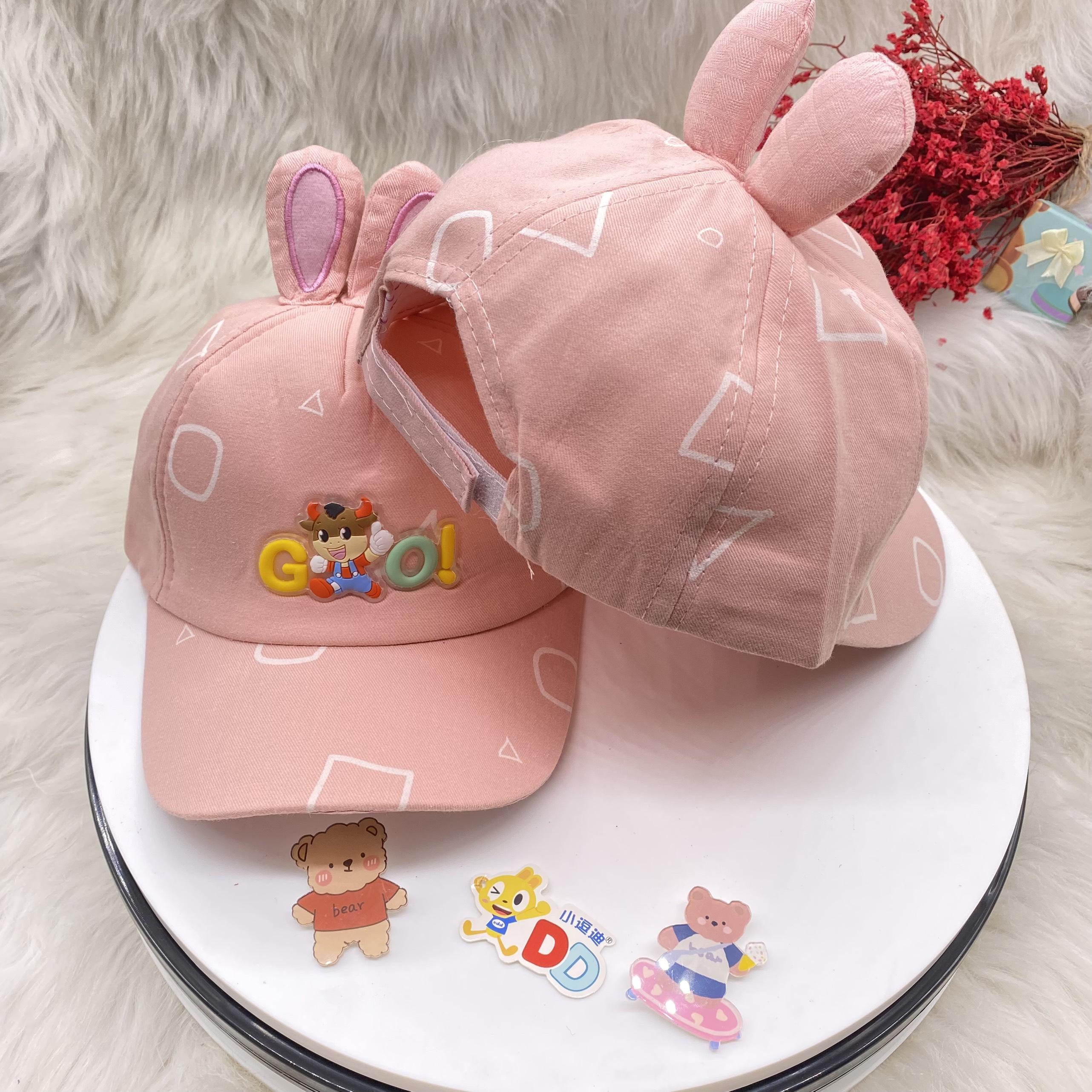 Mũ em bé Nón trẻ em nón Lưỡi Trai Con Trâu Dễ Thương Điều Chỉnh Quai Cho Bé Trai / Gái Từ 1 tuổi đến 3 tuổi