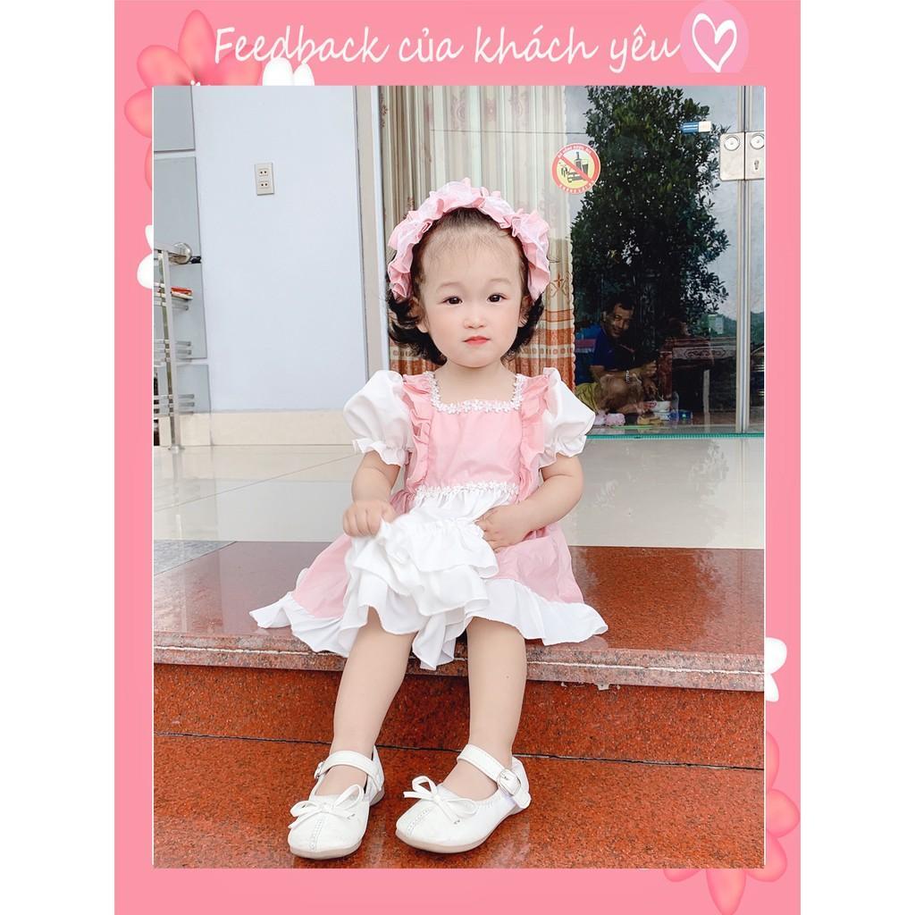 Đầm công chúa cho bé ️ +TẶNG TB)️ - NHƯ Ý HOUSE -váy TRẺ EM THIẾT KẾ - LOLITA HỒNG
