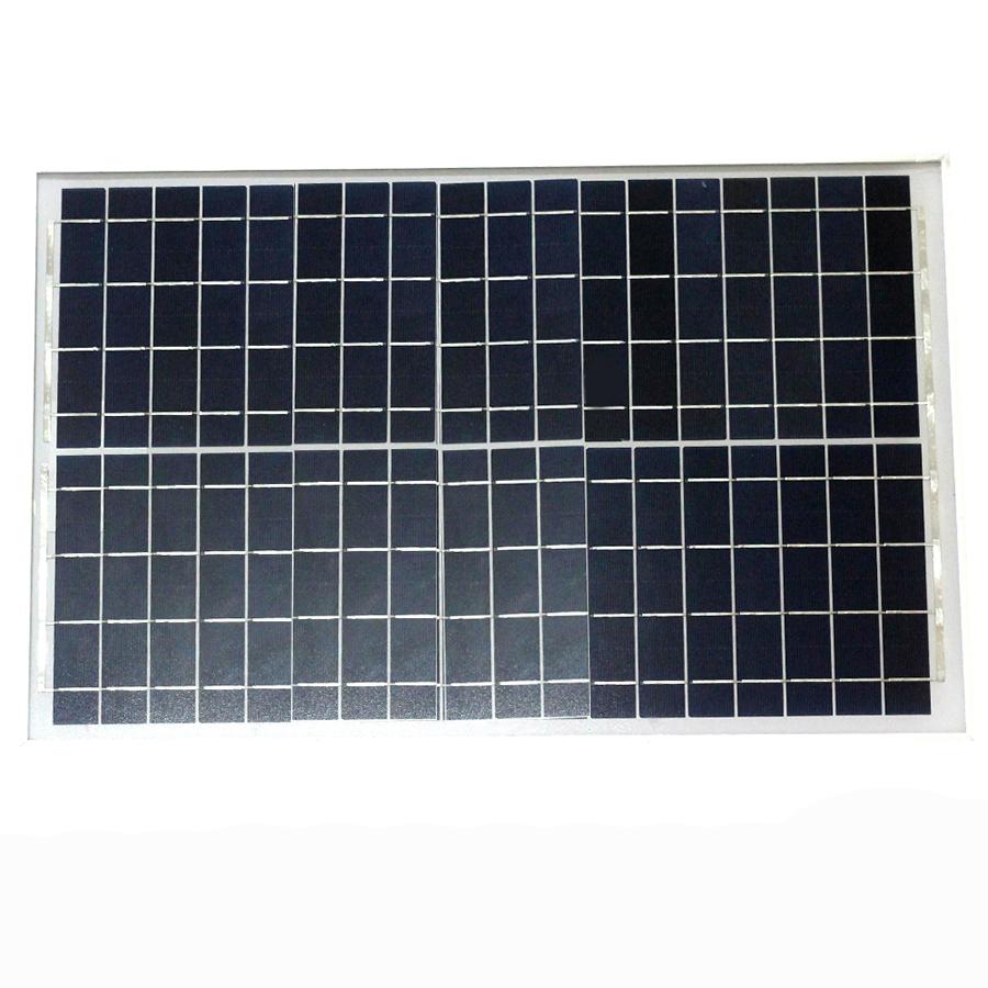 Tấm Pin Năng Lượng Mặt Trời 18V 30W (Khung Nhôm) - 545x348x17mm