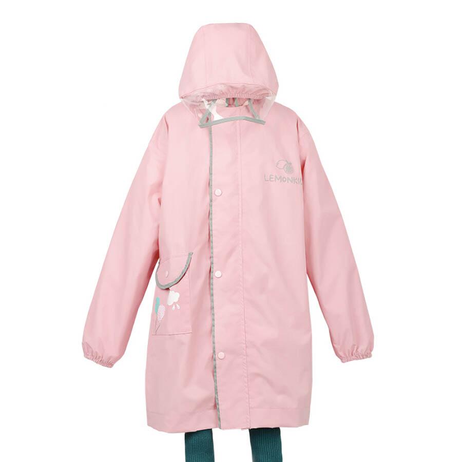 Lemonkid LK011112 Childrens Tower Velvet Raincoat Boys Girls Childrens Kids Pupils Kindergarten Poncho Pink Rabbit S