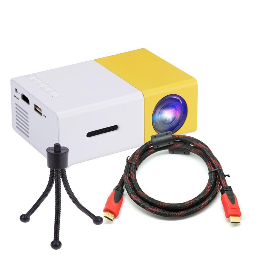 Máy Chiếu Mini Dùng Tại Gia Đình LCD LED YG-300 Kèm Chân Đế Tiện Dụng Cao Cấp AZONE