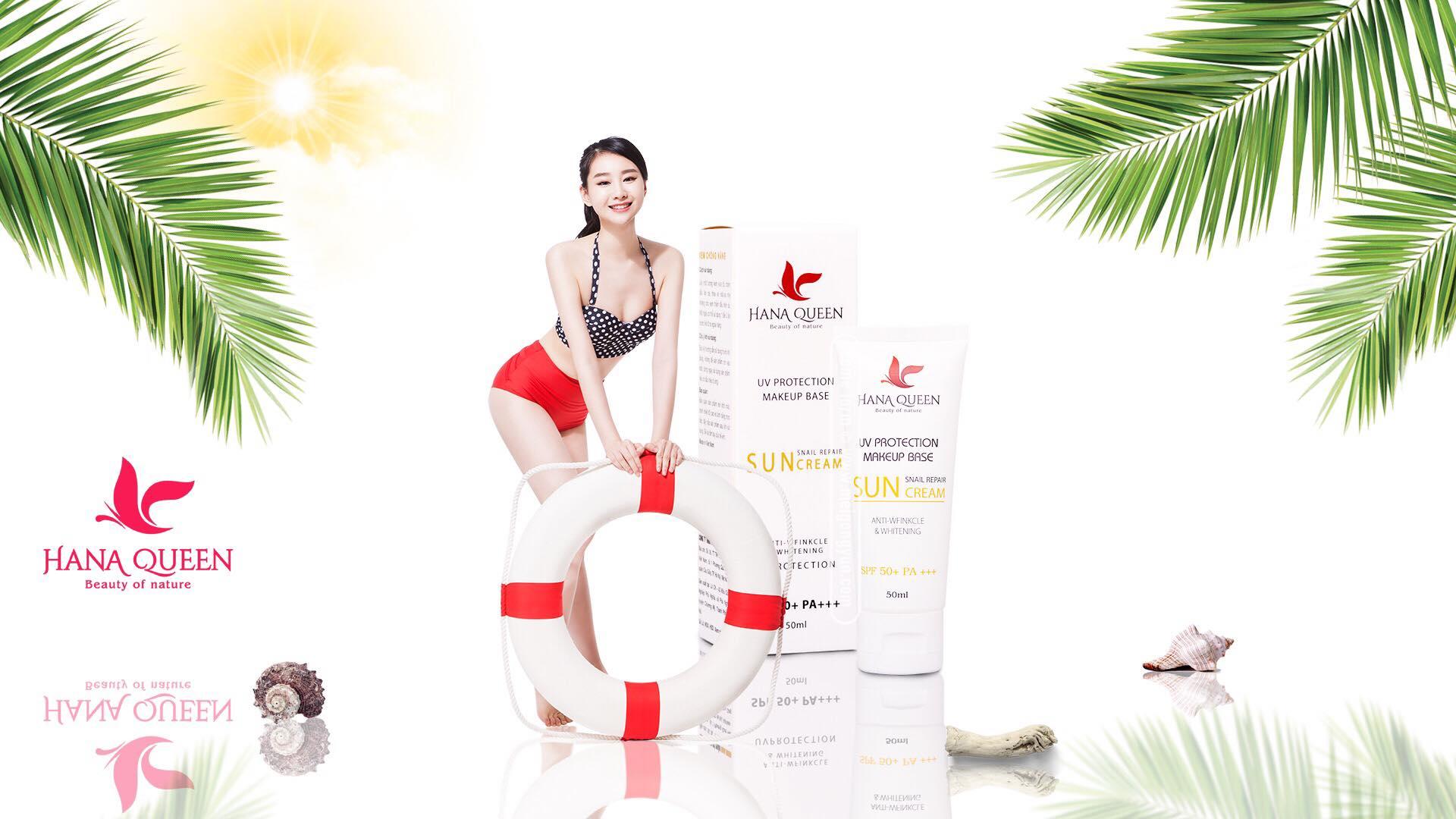 Kem Chống Nắng Bảo Vệ Da Hoàn Hảo SPF 50+++ Sun Cream Hanaqueen
