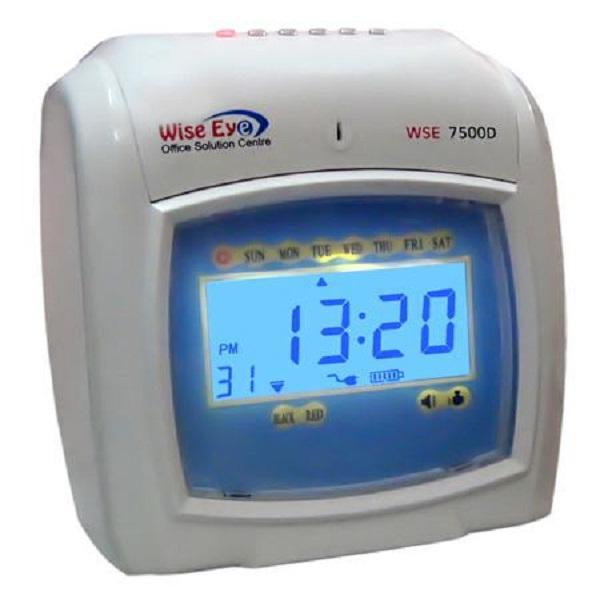 Máy chấm công thẻ giấy WISE EYE 7500D - Hàng nhập khẩu