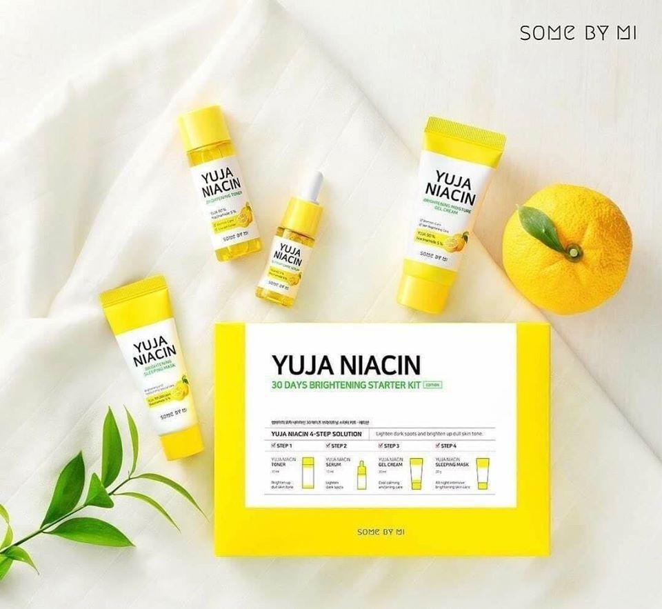 Kem Some By Mi Yuja Niacin Brightening Moisture Gel Cream MINI SIZE 30ml + Tặng kèm 1 băng đô tai mèo