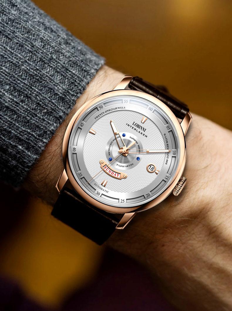 Đồng hồ nam chính hãng LOBINNI L18071-1