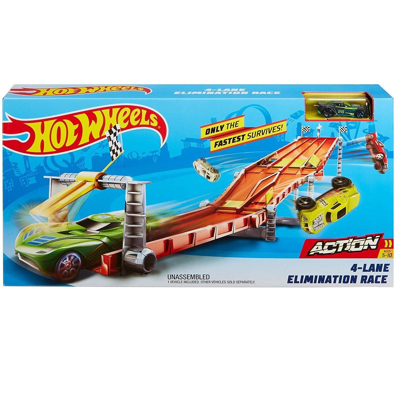 Mô hình bộ đường đua 4 làn siêu tốc Hot Wheels GDY60