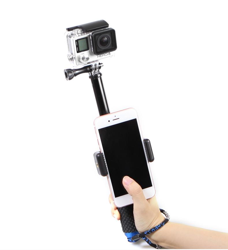 Kẹp điện thoại gắn gậy Monopod điều chỉnh Wifi cho GoPro Hero