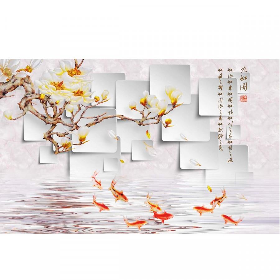 Decal hoa trang trí tường 3DH867