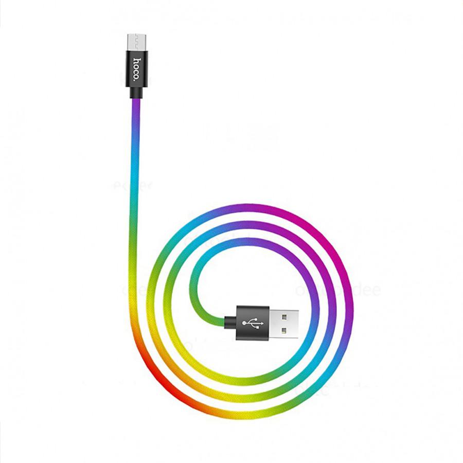 Cáp sạc Micro usb Hoco X26 Plus phiên bản đặc biệt cho dòng Android sạc nhanh 3.0A dài 1m - Hàng Chính Hãng