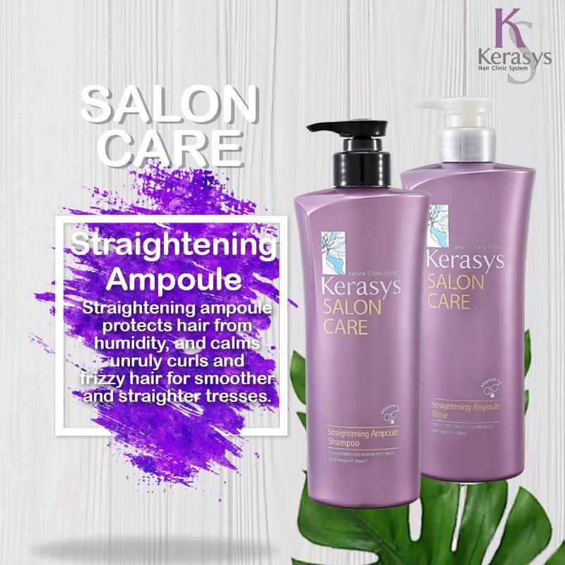 Dầu xả mềm mượt Kerasys Salo Care Straightening Hàn Quốc 600ml - Dành cho tóc thẳng tặng kèm móc khoá