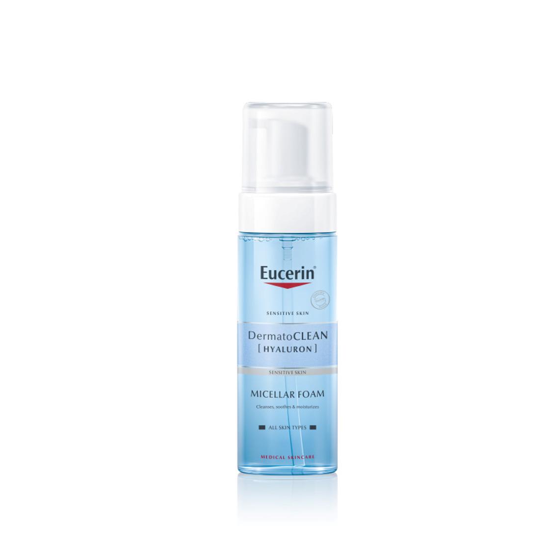 Bọt tẩy trang, rửa mặt Eucerin DermatoClean Hyaluron Micellar Foam 150ml
