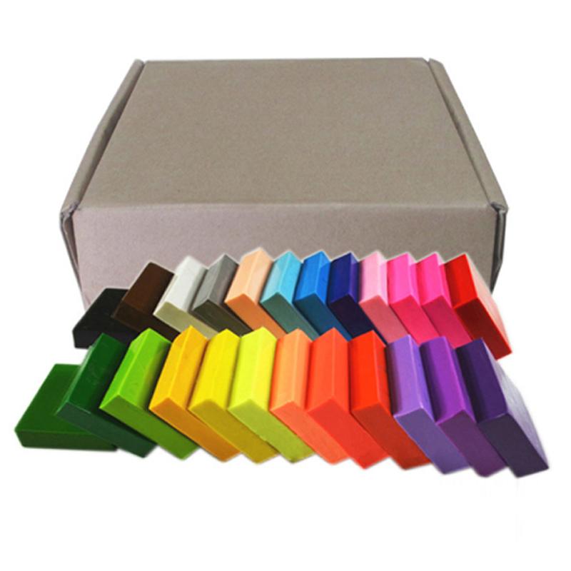Đất sét nặn cao cấp không bao giờ hỏng Polymer Clay hộp 24 màu 1kilogram