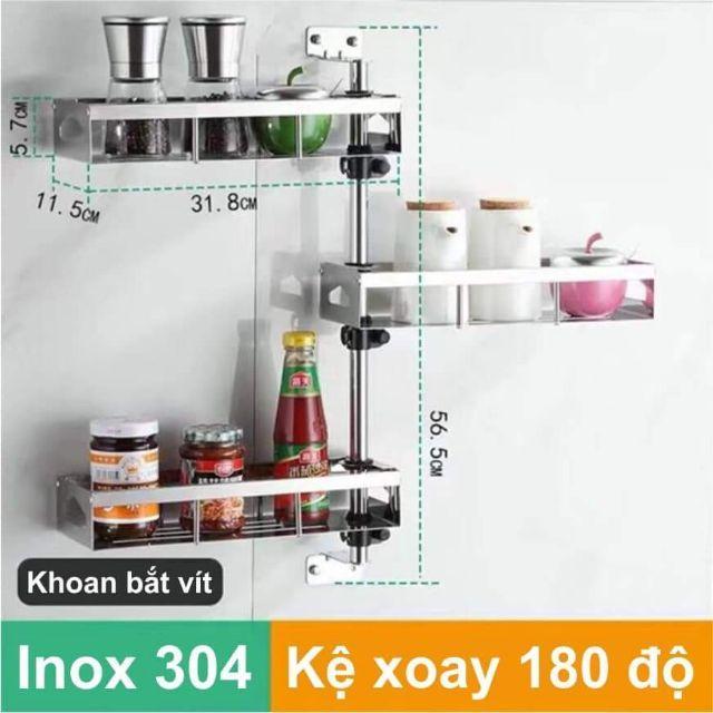 Kệ xoay thông minh Inox 304 Model 3 tầng