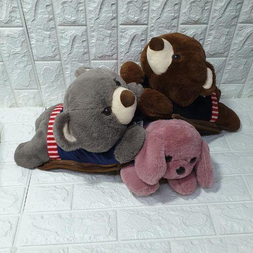 Túi Sưởi Ấm Lưng Họa Tiết Gấu chó Đa Năng (1 Sản Phẩm)- Dùng Điện  - Màu Ngẫu nhiên - Mẫu TSC0283
