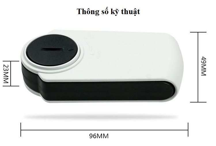 Kính lúp mini có đèn phóng đại 8x Model 518B ( Tặng kèm 01 móc khóa tua vít ba chức năng )
