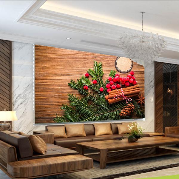 Rèm Tranh 1 Tấm Mẫu Giáng Sinh_CMAS29