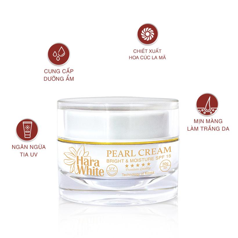 Kem dưỡng ban ngày Pearl Cream Hara White 30g