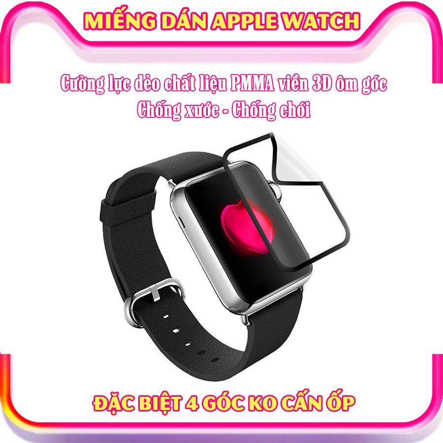 Dây Đeo liền ốp dành cho Apple Watch size 38/40/42/44mm TPU chống sốc viền màu_Đen Đỏ (tặng dán KCL theo size)
