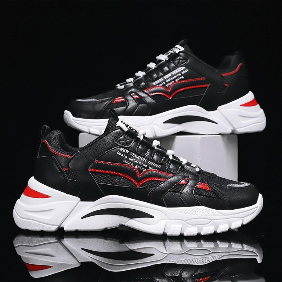 Giày thể thao nam cổ thấp - Giày đế tăng chiều cao mẫu mới siêu hot phong cách cá tính mạnh mẽ