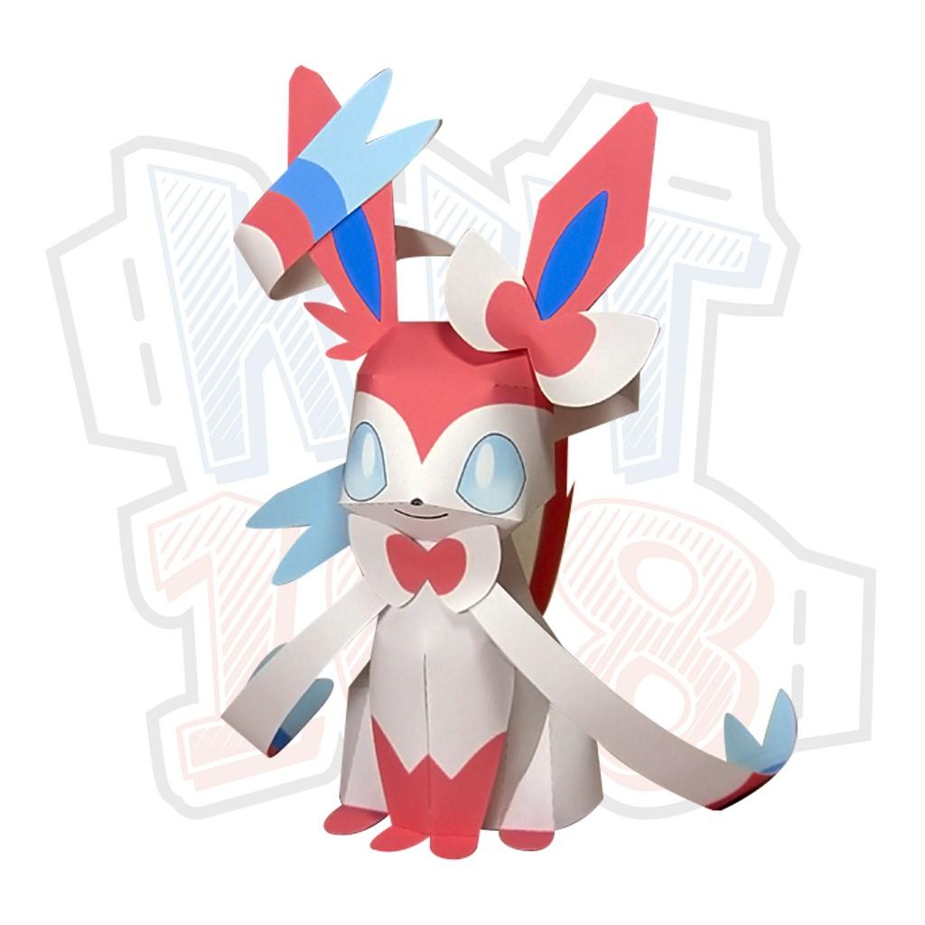 Mô hình giấy Anime Pokemon Sylveon ver 3