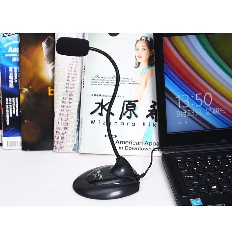 Micro cắm Máy tính bàn Laptop qua cổng 3.5mm Thu âm Chat voice Live stream Salar M6 - Hàng Chính Hãng