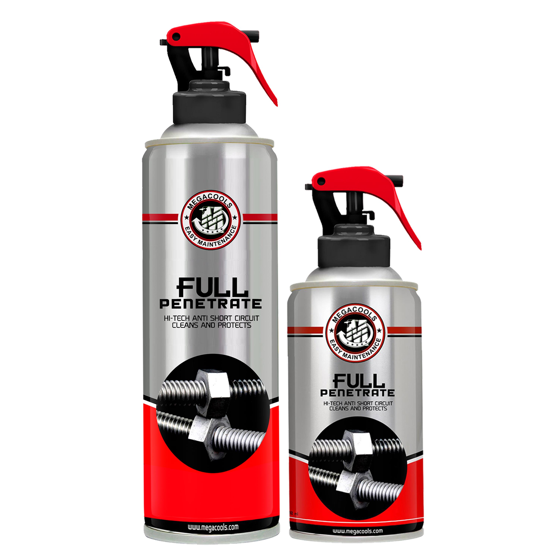 Combo dưỡng sên chống văng Megacools Chain Lube Ultra MOLY WAX 300ml +vệ sinh sên 500ml Penetrate tặng bàn chải chải