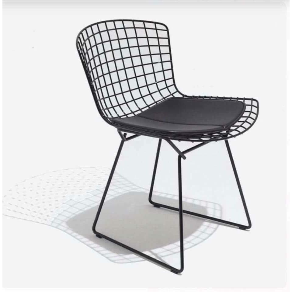 ghế sắt hairy đen