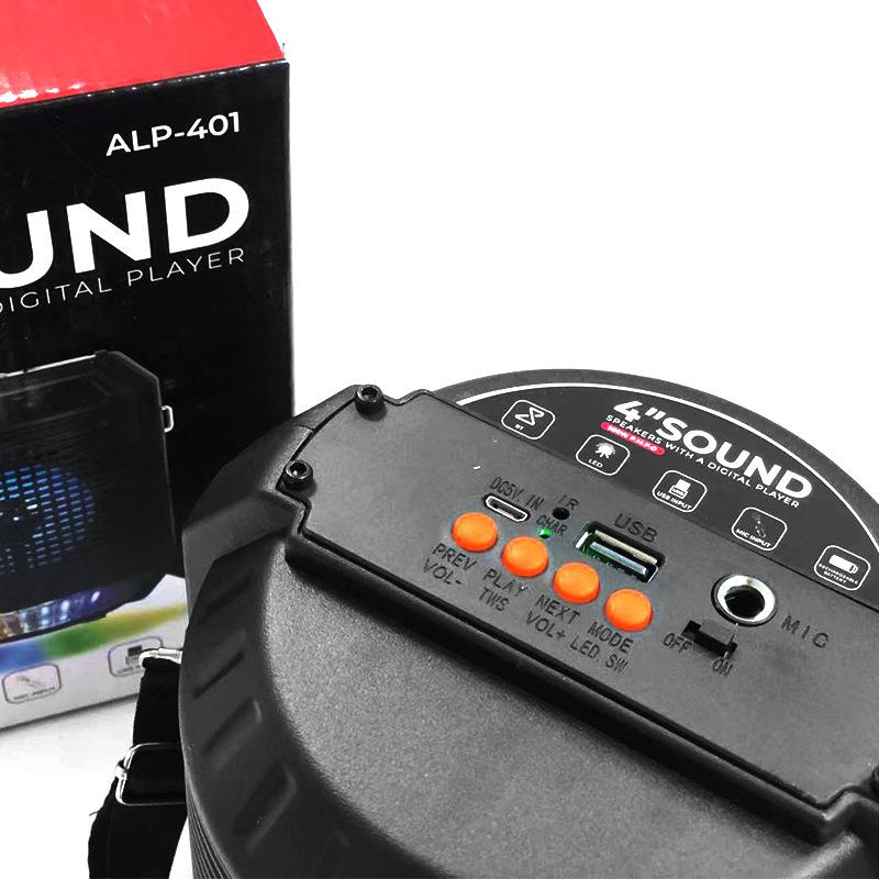 Loa Bluetooth ALP 410 Lanith - Loa Phát Không Dây Kèm Mic Karaoke - Kết Nối Nhanh, Âm Thanh Chất - Thao Tác Các Phím Ngay Trên Loa - Hỗ Trợ Thẻ SD, USB - Tặng Kèm Cáp Sạc 3 Đầu - Hàng Nhập Khẩu - LAP00401-CAP00001