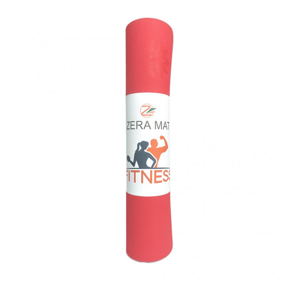 Thảm tập yoga Fitness Zera TPE 1 lớp 8mm - Đỏ