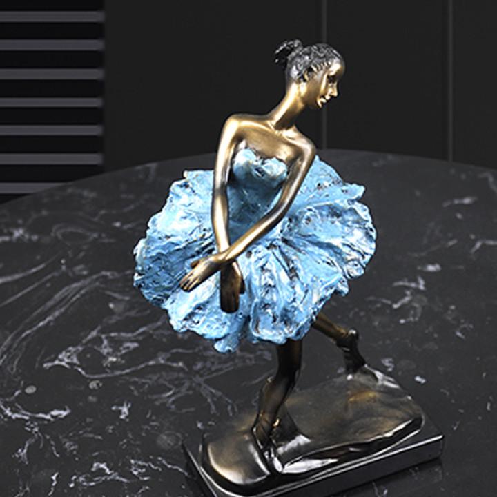 Decor trang trí - Tượng vũ công múa bale nghệ thuật DCB2098