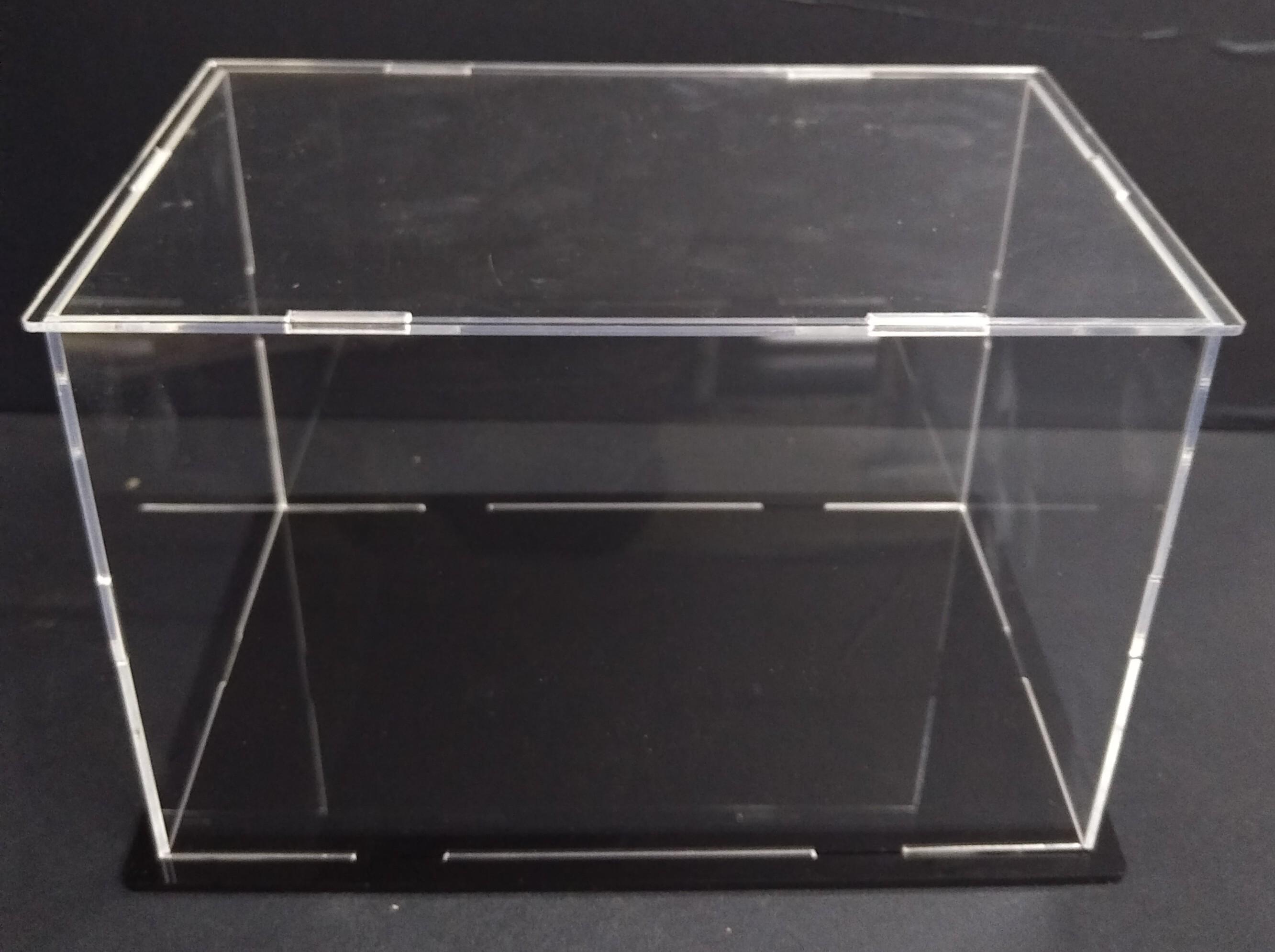 Hộp trưng bày 35x13x18cm mica trong bày mô hình dạng lắp ghép