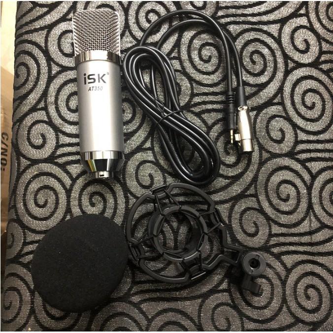 Mic thu âm livestream ISK AT350, Lọc ồn 2 lớp, cắm vào smartphone, máy tính bảng,  Laptop, máy tính để bàn, sound card, TN Bluetooth Siêu Bass Có Mic Đàm Thoại Thích Hợp các cuộc họp, hội nghị và học trực tuyến trên Zoom- Hàng nhập khẩu