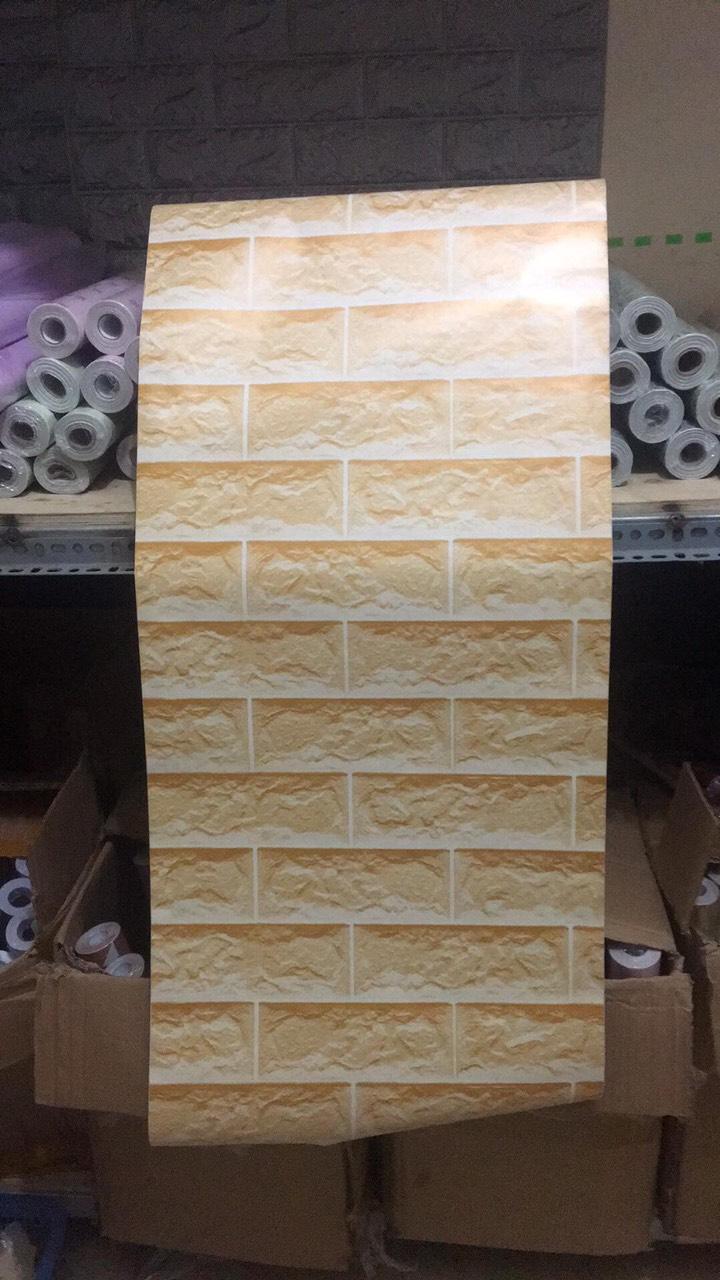 5m Giấy dán tường gạch vàng