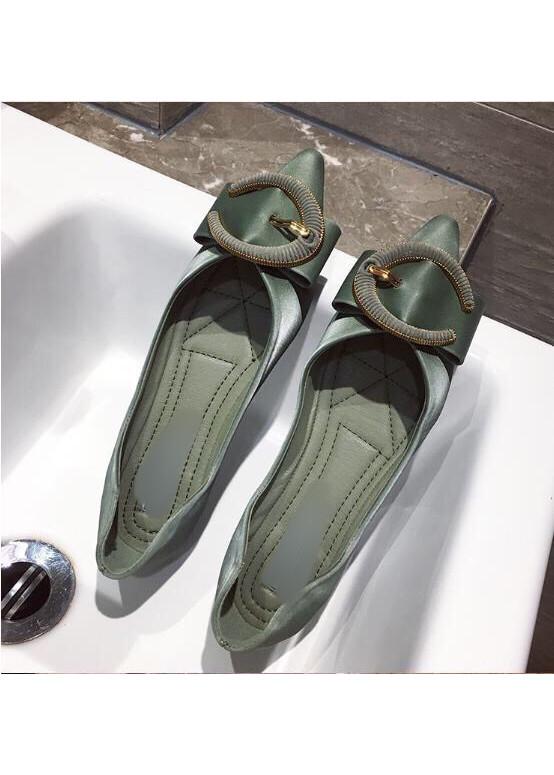 G32 Giày da bệt nơ chữ C