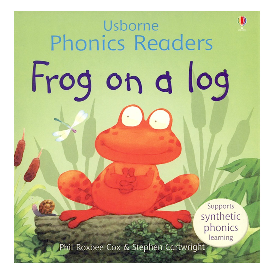 Usborne Frog on a log