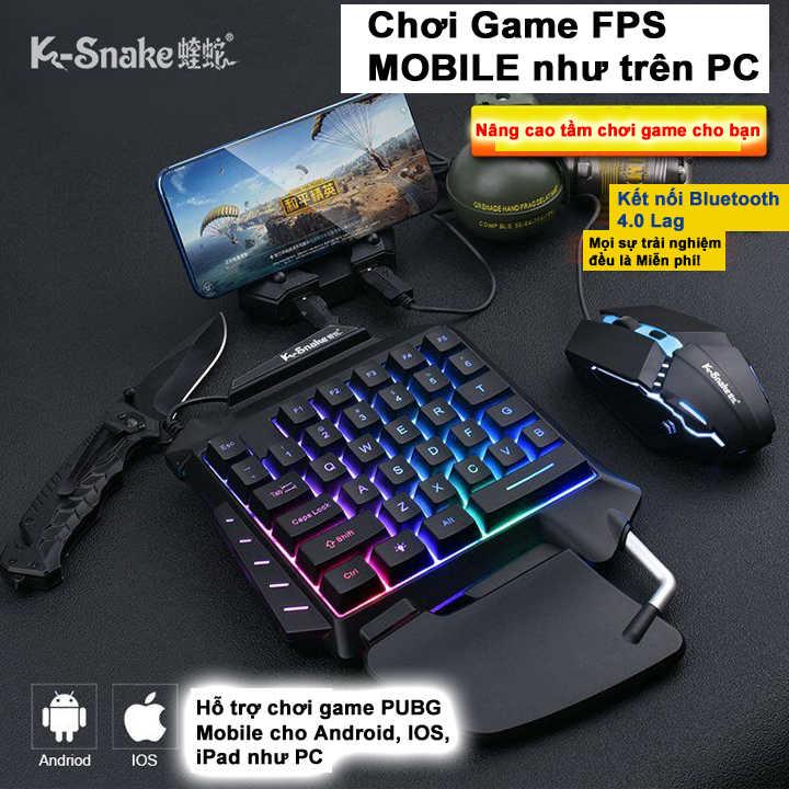 Bộ chuyển đổi game K-Snake JL chơi game PUBG, ROS, Free Fire, COD, FPS - Hàng Nhập Khẩu