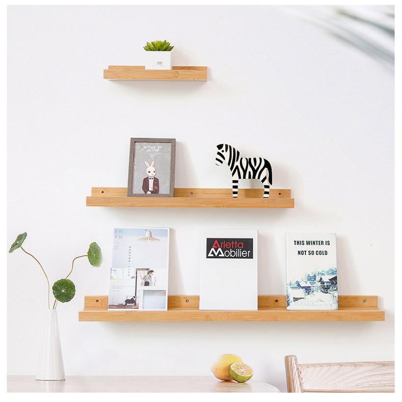 Set kệ gỗ thông tự nhiên treo tường kệ đựng đồ trang trí như hình
